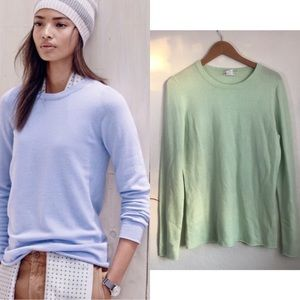 J. Crew 100% Italian cashmere light green sweater